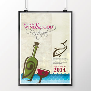 Food and Wine Poster