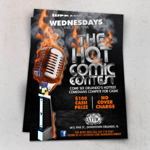 Hot Comic Flyer